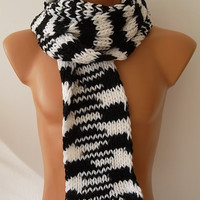 Black ank White Christmas Gift Men's Fashion Scarf, Men's Accessories, Neck Warmer, 2014 Handknitted