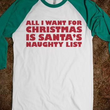 All I Want For Christmas-Unisex White/Evergreen T-Shirt