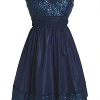 Sequin Trim Dress