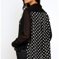 MinkPink Intuition Shirt - Polka Dot Shirts - $78
