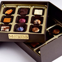 Fine Artisanal Belgian Chocolates Pralines and truffles, 18 pieces box