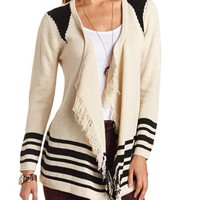 FRINGE OPEN CARDIGAN SWEATER