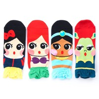 Cute Cartoon Character Socks Princess Series (4 Pairs)