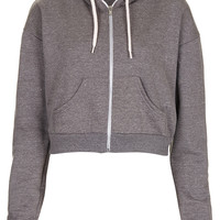 Crop Zip Hoody