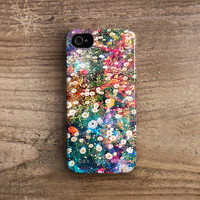 Floral iPhone 4 case - Floral iPhone 5 case, iPhone 4s case, flower iphone 4 case, flower iphone 5 cover Galaxy, rubber iphone case /c243