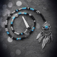 Tribal Hair Beads - Turquoise
