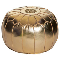 Found by Fab: Moroccan Pouf Gold
