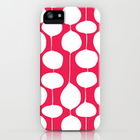 Holiday Bobbles - Festive Red iPhone & iPod Case by Heather Dutton