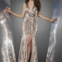 Shimmer by Bari Jay 59814 Sequin Evening Gown