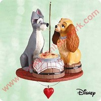 2003 Spaghetti Supper, Lady and the Tramp, Disney Hallmark Ornament