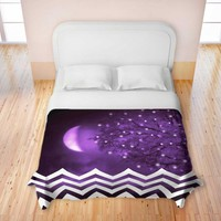 *** PURPLE MOON CHEVRON *** Duvet Cover Premium Soft Woven from DiaNoche Designs by Monika Strigel Home Décor and Bedroom Ideas