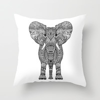 *** AZTEC ELEPHANT ***  Throw Pillow by Monika Strigel