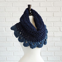 Hand Crocheted Scallop Neck Warmer