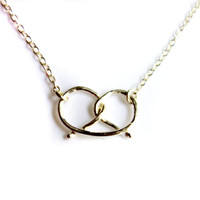 Handknotted Sterling Silver Pretzel Necklace