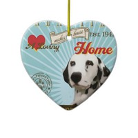 A Loving Dalmatian Makes Our House Home Christmas Tree Ornament