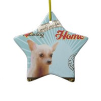 A Loving Chihuahua Makes Our House Home Ornaments