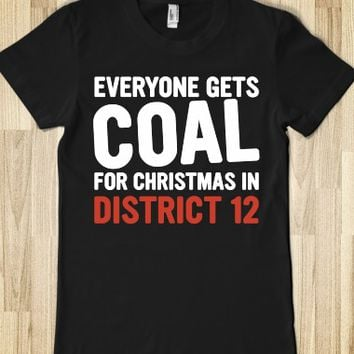 Coal for Christmas(DARK)-Female Black T-Shirt