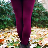 Legs for Days Leggings - Wine