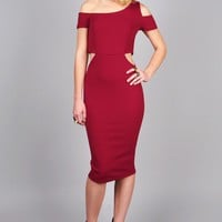 Cut Away Midi Dress