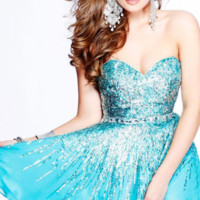 Sherri Hill 8413 Strapless Party Dress