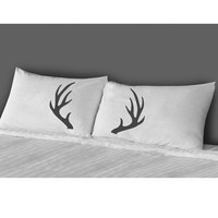 Antlers Pillow Case Set