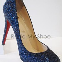 Christian Louboutin DECLIC CrystalEncrusted Pumps by RedoMyShoe