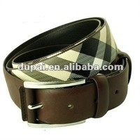 Fashion British Style Check Pattern Mens Leather Belt - Buy Mens Leather Belt,Fashion British Style Belt,Check Pattern Belt Product on Alibaba.com