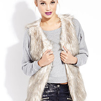 Vintage-Inspired Furry Vest