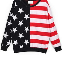 Striped Star French Terry Sweatshirt