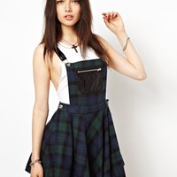 Freak Of Nature New York Doll Pinafore Dress In Tartan