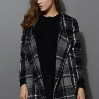 Oversize Wool Tartan Tweed Coat
