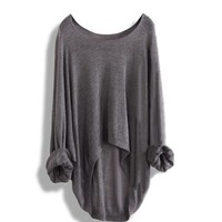 Long-sleeved knit shirt blouse hollowLong-sleeved knit shirt blouse hollow A 083101