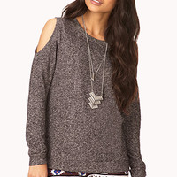 Easy Cutout Heathered Top