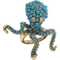 Octopus blue ring