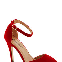 Dinner and Dancing Heel in Rouge