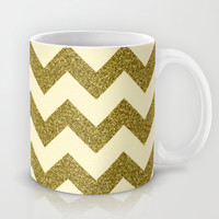 Chevron Gold Mug by Alice Gosling