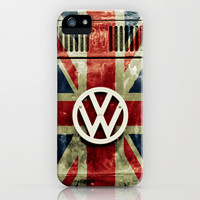 VW Retro Union Jack iPhone & iPod Case by Alice Gosling