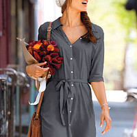 Woven Shirtdress - Victoria's Secret