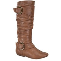 FOREVER TAMIKE-37 Women's Pull On Knee High Boots, Color:TAN, Size:8.5