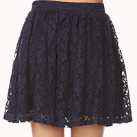 Romantic Floral Lace Skirt