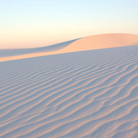White sand, New Mexico, southwest, Photograph of a windswept sand dune at sunrise, photographic art, home and office décor. Title is: 148