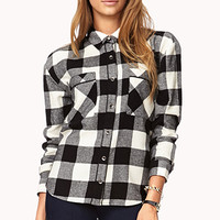 Cozy Gingham Print Flannel