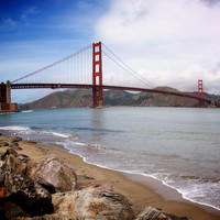 San Francisco Golden Gate Bridge photograph, photographic art, for home and office décor. Title is: 111