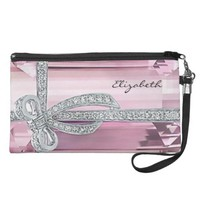 Pink Diamond Wristlet Handbag