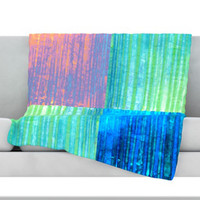 KESS InHouse Crayon Batik Fleece Throw Blanket