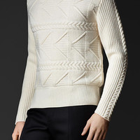 Multistitch Virgin Wool Sweater