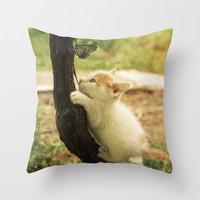 Friends Throw Pillow by SensualPatterns