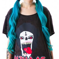 Lazy Oaf Metal Head Slob Tee Black One