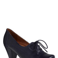 Right Here Heel in Navy | Mod Retro Vintage Heels | ModCloth.com