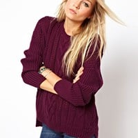 ASOS Aran Sweater - Navy $24.76